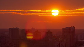 Ukraine. Kiev. Sunrise on the left bank of the stock video footage