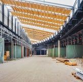 UKRAINE, KIEV. Trade area. Progress in the construction of shopping mall Republic Stock Image