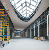 UKRAINE, KIEV. Trade area. Progress in the construction of shopping mall Republic Stock Photography