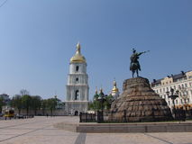 Ukraine. Kiev.Ukraine. Saint Sophias Cathedral. Bell tower. Saint Sophia Cathedral in Kiev is an outstanding architectural monument of Kievan Rus. The cathedral Stock Images
