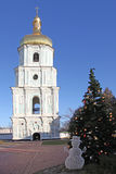 Ukraine. Kiev.Ukraine. Saint Sophias Cathedral. Bell tower Stock Photos