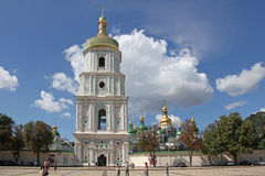 Ukraine. Kiev.Ukraine. Saint Sophias Cathedral. Bell tower. Saint Sophia Cathedral in Kiev is an outstanding architectural monument of Kievan Rus. The cathedral Stock Photo