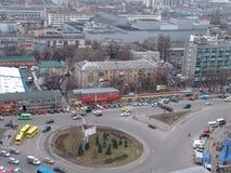 Ukraine. Kiev. Veiw of streeets. City traffic Stock Photos