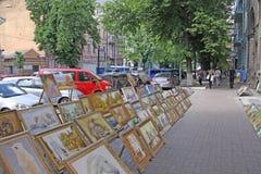 Ukraine. Kiev. Vernissage at the street Royalty Free Stock Image