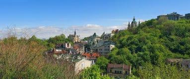 Ukraine, Kiev, view point, landscape, panorama at the Andriyivsky uzviz Stock Images