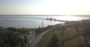 ukraine kiev Vyshgorod Kyiv hav _ Dnieper behållare GAES Ges lager videofilmer