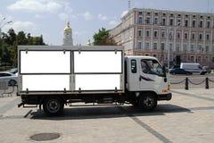 Ukraine Kieve truck billboard Royalty Free Stock Image