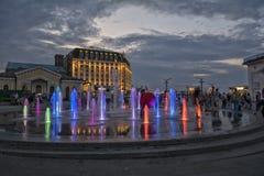 Ukraine, Kiew Podol Beitragsquadrat, Brunnen lizenzfreies stockbild