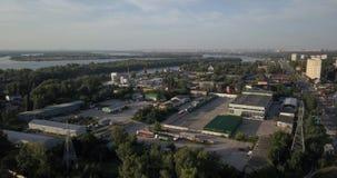ukraine kiew Vyshgorod Kyiv-Meer aerial Dnieper vorratsbehälter GAES Ges stock video