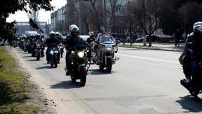 Ukraine, Kremenchug - April 2019: Eröffnung der Motorradjahreszeit stock footage