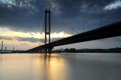 Ukraine. Kyiv. Pivdenny Mist (Southern Bridge) Royalty Free Stock Photography