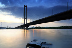 Ukraine. Kyiv. Pivdenny Mist (Southern Bridge) Stock Photos