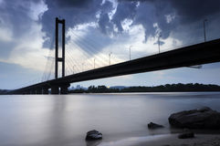 Ukraine. Kyiv. Pivdenny Mist (Southern Bridge) Stock Photography