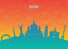 Ukraine Landmark Global Travel And Journey paper background. Vec. Tor Design Template.used for your advertisement, book, banner, template, travel business or Stock Photos