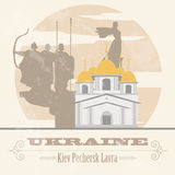Ukraine landmarks. Retro styled image Royalty Free Stock Photography