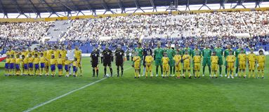 Ukraine and Lithuania national teams Stock Image