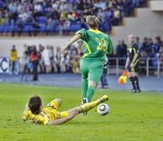 Ukraine - Lithuania national teams football match Stock Photos