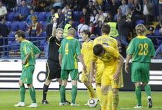 Ukraine - Lithuania national teams football match Royalty Free Stock Photo