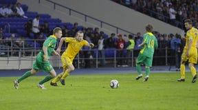 Ukraine - Lithuania national teams football match Stock Photos