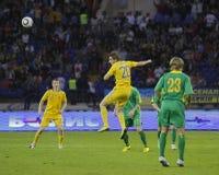 Ukraine - Lithuania national teams football match Stock Images