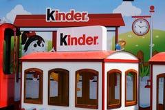 Ukraine, Lviv - May, 2019: Children`s car with the Kinder logo stock images