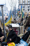 Ukraine - Maidan: Birth of a civil society 21st dec 2013. Ukraine / Kiev, 21st dec 2013: Cossack - activist. For three months protestors camped on Kiev main Royalty Free Stock Photography