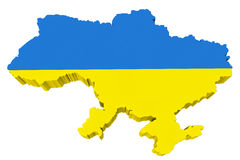 Ukraine map Stock Photography