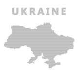 Ukraine map with gray dot. Stock Images
