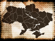 Ukraine map Stock Photo