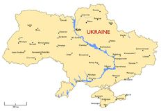 Ukraine map Royalty Free Stock Image