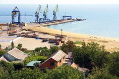 Ukraine.  Mariupol on the coast of the Azov Sea Stock Photography