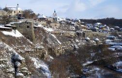 ukraine Middeleeuwse stad kamyanets-Podilsky Stock Foto