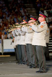 Ukraine military band Royalty Free Stock Photography