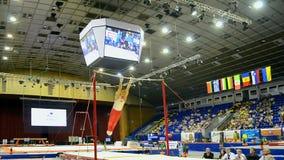 Ukraine Nation Cup 2015, International sport gymnastics competition, Kiev,. KIEV - MAY 24: Ukraine Nation CUP Stella Zakharova Cup 2015, International sport stock footage