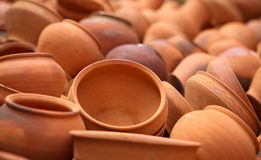 Ukraine national ceramic, tradinional vernissage Stock Photo