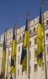 Ukraine national flag royalty free stock photos
