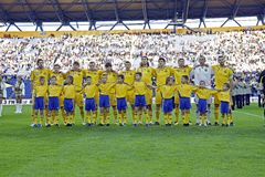 Ukraine national football team Royalty Free Stock Images