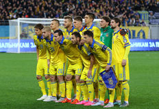 Ukraine National football team Royalty Free Stock Photography