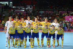 Ukraine national futsal team Stock Photography