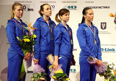 Ukraine National Sabre Team Royalty Free Stock Photo