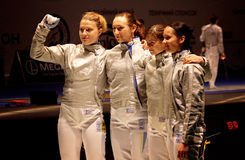 Ukraine National Sabre Team Royalty Free Stock Photography