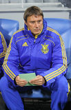 Ukraine national team coach Aliaksandr Hatskevich Royalty Free Stock Images
