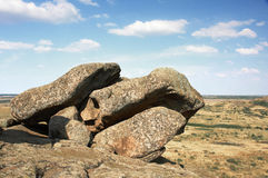 Ukraine. Natural Reserve Stone Tombs Royalty Free Stock Image