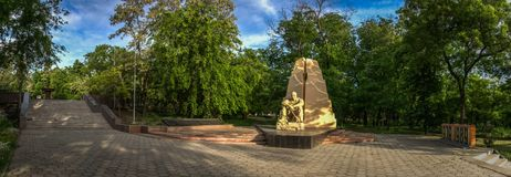 Monument to Honours Afganistan War in Odessa. Ukraine Odessa monument to honours of Soviet soldiers killed in Afghanistan royalty free stock images