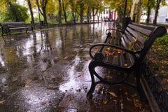 Ukraine, Odessa, Primorskiy Boulevard. Autumn in Odessa, Ukraine. Primorskiy Boulevard Royalty Free Stock Images