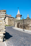 Ukraine. Old fortress in Kamianets-podilskyi. Ukraine historical building in Kamianets-podilskyi. Summer stock photo
