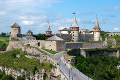 Ukraine. Old fortress in Kamianets-podilskyi. Ukraine historical building in Kamianets-podilskyi. Summer royalty free stock photo