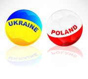 Ukraine and Poland Isolated Royalty Free Stock Images