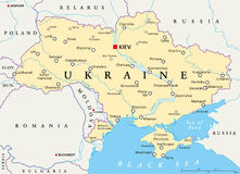 Ukraine Political Map Stock Image