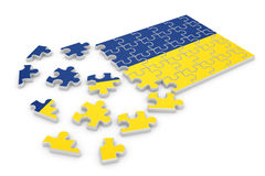 Ukraine puzzle flag Royalty Free Stock Photography